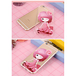 The beauty pattern TPU Soft Cover for iPhone 6/6S  (Assorted Colors)