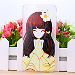 Daffodil Flower Girl Pattern TPU Case for iPhone 5/5S