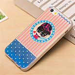 Bule Love Fashion Boy Pattern TPU Soft Case for iPhone 5/5S