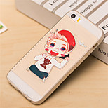 Lovely Boy Pattern TPU Soft Case for iPhone 5/5S