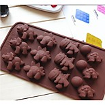 Fashion Chocolate Jelly Cake Decorating Bakeware Mold Soap Kitchen Cooking Tools Dessert Mould (Random Color)