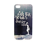 Writing Pattern TPU Material Phone Case for iPhone 4/4S