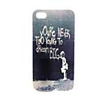 écrit motif TPU matériau de téléphone pour iPhone 4 / 4S