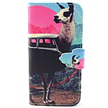 Alpaca Pattern PU Leather Material Card Full Body Case for iPhone 5/5S