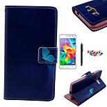 karzea ™ modelo azul mariposa caja de cuero de la PU con lápiz protector de pantalla y el enchufe del polvo para Samsung G530 gran primer