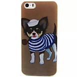 Smoking Puppy Pattern TPU Painted Soft Back Cover for iPhone 5/5S