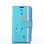 Chrysanthemum Pattern PU Leather Full Body Case with Stand for LG G3