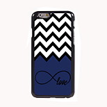 Wave and Love Design Aluminum Hard Case for iPhone 6