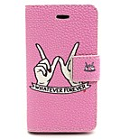 Whatevre Forevre Pattern PU Leather Phone Holster  For iPhone 4/4S