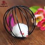 FUN OF PETS® Lovely Mouse In The Cage Shaped Toy for Pet Cats(Random Colour)