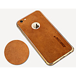 Jisoncase Vintage Leather Carapace and The Metal Frame for iPhone6 Plus(Assorted Colors)