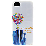 Fashion Design COCO FUN® Rock Balloon House Pattern Soft TPU IMD Back Case Cover for iPhone 5/5S