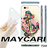 MAYCARI®Floral Anchor Pattern TPU Soft Transparent Back Case for iPhone 6