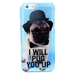 Dog Pattern Glitter TPU Material Soft Phone Case for iPhone 6