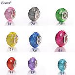 Euner® New DIY Unique Jewelry Loose Ball Round Charm Gem Beads fit for European pandora Bracelets Necklaces Chain(10PCS)