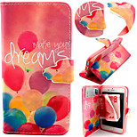 Balloon Pattern with Card Bag Full Body Case for iPhone 6