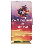Color Balloons Pattern PU Material Card Sided Bracket Full Body Case for iPhone 6