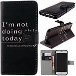 patrón de palabras Inglés con la bolsa de la tarjeta de caja de cuerpo completo para iphone 6