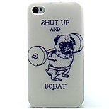 Sport Dog Pattern TPU Soft Back Case for iPhone 4/4S