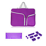High Quality Zipper Sleeve bag with Keyboard Cover and Silicone Dust Plug for Macbook Air 11.6