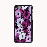 Blooming Flower Design Aluminum Hard Case for iPhone 6
