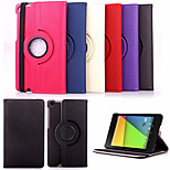 KARZEA® 360 Degree Rotating Cowboy PU Leather Case with Stand for The New Google Nexus 7(2nd Generation)