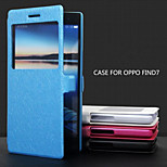 Luxury Flip Leather Case with Double Smart View Window Mobile Phone Cover Case for OPPO  Find 7(Assorted Color)