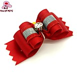 FUN OF PETS®Elegant Ribbon Style Rhinestone Decorated Rubber Band Hair Bow for Pet Dogs  (Random Color)
