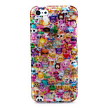 Lovely Face  Pattern Glitter TPU Cell Phone Soft Shell For iPhone 5C