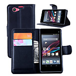 Litchi Around Open Bracket Leather Phone Wallet Card Suitable for Sony Z1 mini(Assorted Color)