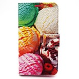 Ice Cream Pattern PU Leather Full Body Case with Card Slot and Stand for Nokia Lumia 630