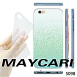 MAYCARI® Gradient Green Powder Pattern TPU Soft Transparent Back Case for iPhone 6/6S