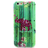 Color Elephant Pattern TPU Painted Soft Back Cover for iPhone 6/6S