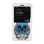 Skull Pattern PU Leather Phone Case for Nokia Microsoft Lumia 640 XL