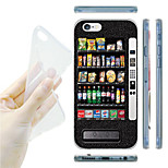 Black Vending Machine Pattern TPU Soft Back Case for iPhone 6