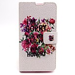 Flowers Pattern PU Leather Material Card Full Body Case for Nokia 640
