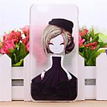 niña de las flores caso del patrón del tpu para el iphone 5 / 5s