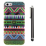 National Wind Pattern TPU Soft Back and A Stylus Touch Pen for iPhone 5/5S
