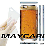 A Cup of Beer Pattern Transparent TPU Soft Back Case for iPhone 6