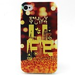 Tower Pattern TPU Material Phone Case for iPhone 4/4S