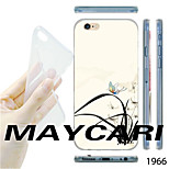 MAYCARI®Orchid Pattern TPU Soft Transparent Back Case for iPhone 6
