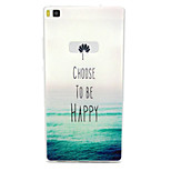 Be Happy Pattern TPU Soft Cover Case for Huawei P8
