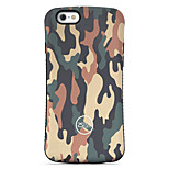 Camouflage  Pattern PC + TPU Drop Resistance Phone Shell For iPhone 6 Plus