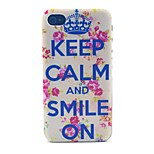 Crown Smile Pattern PC Material Phone Case for iPhone 4/4S