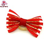 FUN OF PETS®Elegant Ribbon Style  Rubber Band Hair Bow for Pet Dogs  (Random Color)