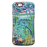 Landscape Painting  Pattern PC + TPU Drop Resistance  Phone Shell For iPhone 6