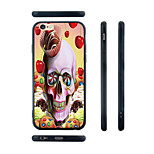Dessert Skull Pattern Silicone Rubber Edge Hard Back Case for iPhone 6/6S
