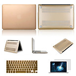Solid Colors Hard Full Body Case with Screen Protector and Keyboard Cover for Macbook Retina 15.4
