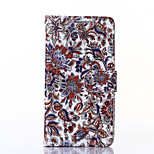 Flower Pattern PU Leahter Wallet with Card Slot And Stand Case for LG G3/G4/L90