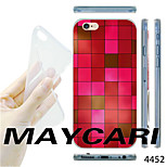 MAYCARI®Gradient Red Mosaic Pattern TPU Soft Transparent Back Case for iPhone 6